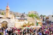 Orthodox Palm Sunday in Nazareth — Stock Photo