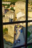 Città vecchia e il ponte vecchio (Stari Most), Mostar — Foto Stock