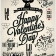 Collection of Valentine's Day Hand Lettering Labels — Stock Vector #52857805