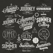 Retro elements for Summer calligraphic designs — Stock Vector #52857393