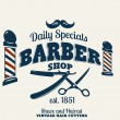Barber Shop or Hairdresser icons and signpost — Stock Vector #52857437