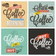 Retro Vintage Coffee Backgrounds — Stock Vector #52857529