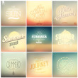 Vintage styled Summer Cards — Stock Vector #52857553