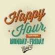 happy hour kaart — Stockvector  #52857613