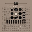150 hipster icons — Stock Vector #52857635