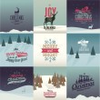 Vintage styled Christmas Cards — Stock Vector #52857643
