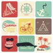 Summer poster made from icons — Stock Vector #52857683