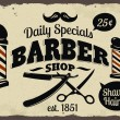 Barber Shop or Hairdresser icons and signpost — Stock Vector #52857699