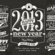 Happy New Year Labels and Merry Christmas typography — Stock Vector #52857859