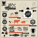 Hand lettering typographic menu design. — Stock Vector #52857937