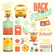 Back to school infographic — Stock Vector