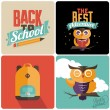 Back to school Retro emblems — Stock Vector #52857997