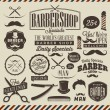 Vintage barber shop labels, graphics and icons — Stock Vector #52858013