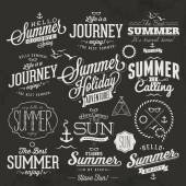 Retro elements for Summer calligraphic designs — Stock Vector
