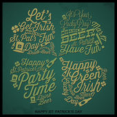 Happy St. Patrick's Day card. — Stock Vector