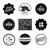 Labels with retro vintage styled design — Stock Vector
