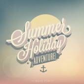 Summer Holiday Adventure — Stock Vector