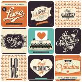 Vintage styled Valentine's Day Cards — Stock Vector