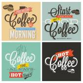 Retro Vintage Coffee Backgrounds — Stock Vector