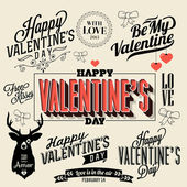 Happy valentines day and weeding handwriting — Stock Vector