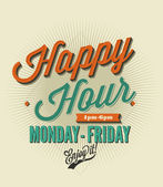 Happy Hour card — Stockvektor