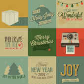 Vintage styled Christmas Cards — Stock Vector