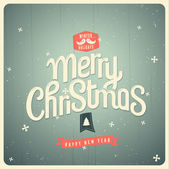 Vintage vector Christmas card — Vecteur