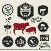Vintage BBQ Grill elements — Stock Vector