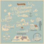 Vintage style restaurant menu designs — Stock Vector