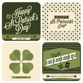 Set of St. Patrick's day cards — Stock Vector