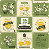 Saint Patricks Day Designs — Stock Vector