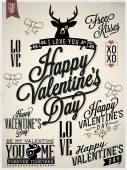Collection of Valentine's Day Hand Lettering Labels — Stock Vector