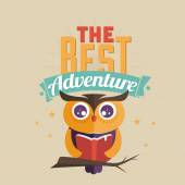 Read a book, best adventure — Stockvektor