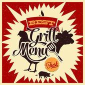 Grill Menu — Stock Vector