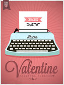 Be My Valentine Typographical Background — Stock Vector