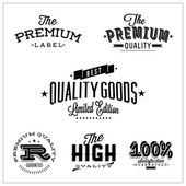 Label collection with black grungy design — Stock Vector