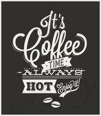 Retro-Vintage premium Coffee Background — Stock Vector