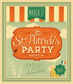 Happy Saint Patrick's Day Party Poster — Stock Vector