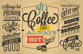 Coffee shop Labels with retro vintage styled design — Stock Vector