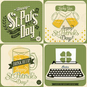 St. Patrick's day card set — Stock Vector
