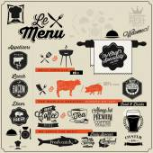 Hand lettering typographic menu design. — Stock Vector