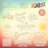 Premium quality detailed stamp set — Vector de stock