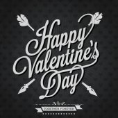 Happy Valentine's Day Hand Lettering — Vettoriale Stock