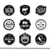 Premium Beef labels — Stock Vector