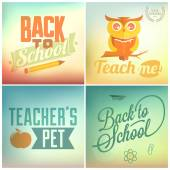 Zurück zu schule-hintergrund — Stockvektor