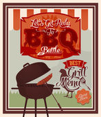 Barbecue Party poster — Stock Vector