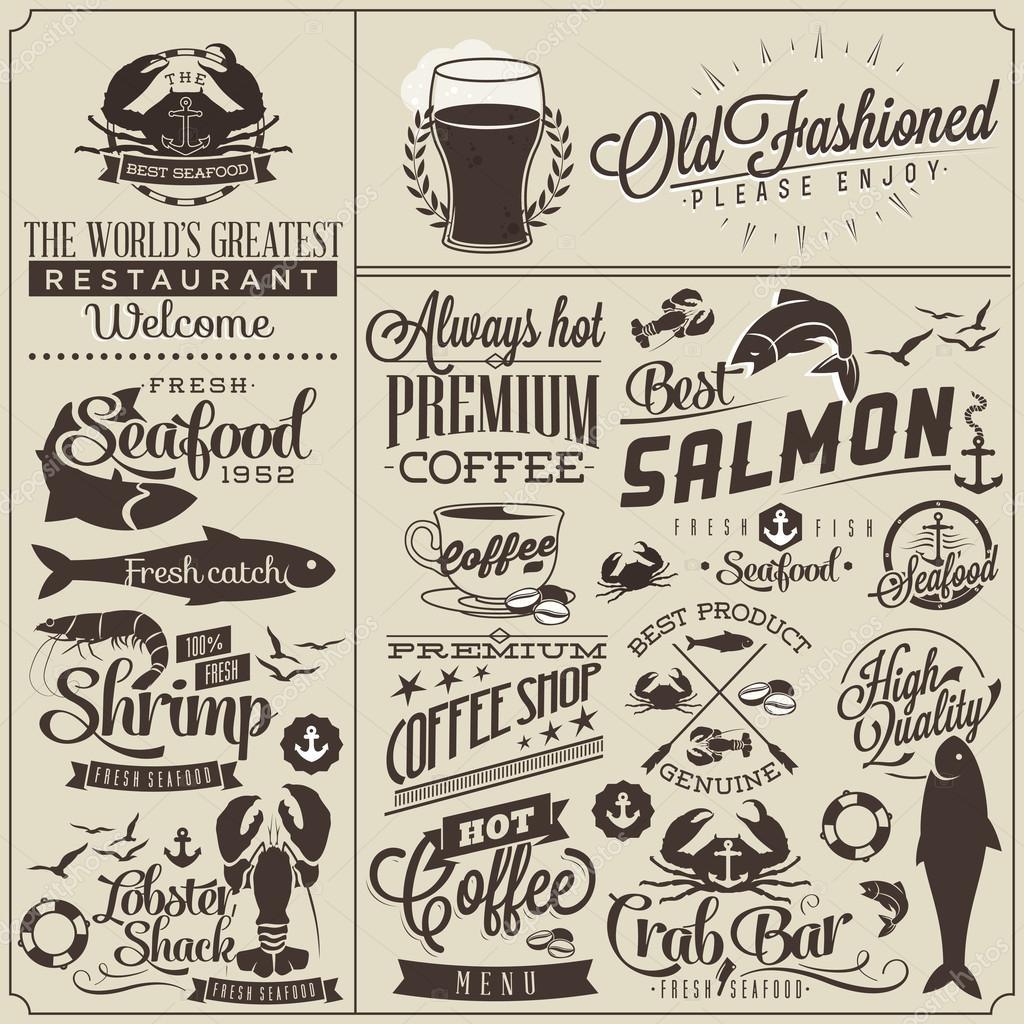 Modèles de menu pour le restaurant style vintage — image