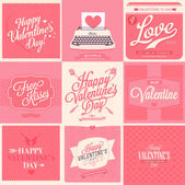 Happy Valentine's Day backgrounds — Stock vektor