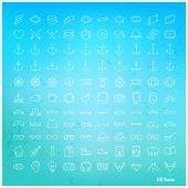 Ligne jeu d'icônes — Vecteur