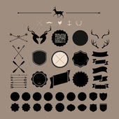Hipster icon, label, badge, sticker! wow! all you need! — Stockvektor